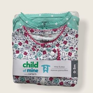 ⭐️2/$28 Child of Mine by Carter's Onesies